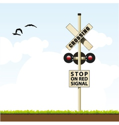 Railroad crossing vector