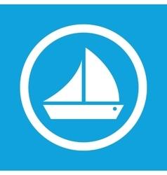 Sailing ship sign icon vector