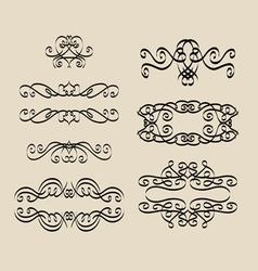 Calligraphy decorations vector