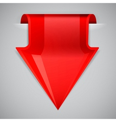 Red arrow bookmark design element vector