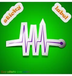 Cardiogram monitoring icon sign symbol chic vector