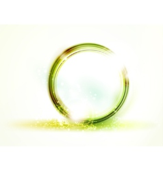 Abstract round green frame vector