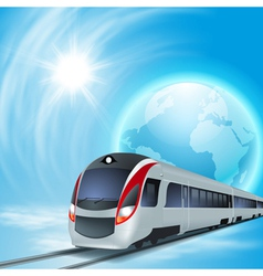 Concept background with high-speed train vector