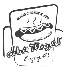 Hot dog poster vector
