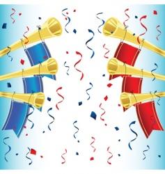 Trumpet celebration vector