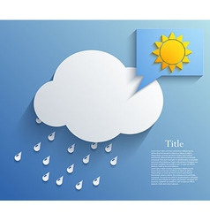 Cloud background eps10 vector