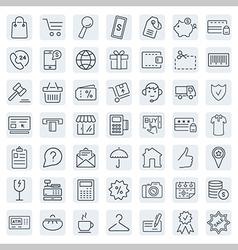 E-commerce outline web icons set vector