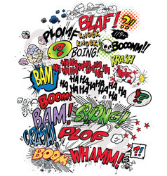 Comic book words vector