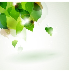Abstract green foliage with light effects vector