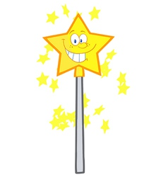 Magic wand cartoon vector