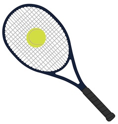 Tennis racket with tennis ball vector