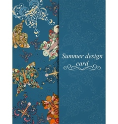 Butterfly summer card vector