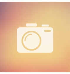 Slr camera in flat style icon vector
