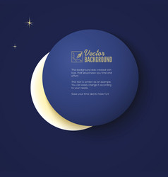 Eclipse of the moon background for your vector