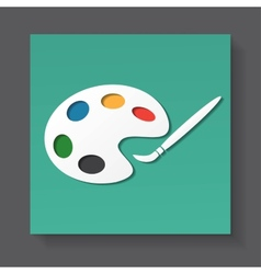 Palette and paintbrush vector