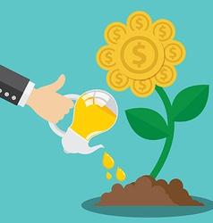 Financial growth form idea concept vector