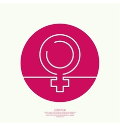 Female symbol of the tape vector