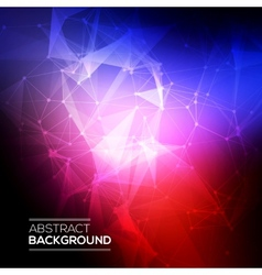 Abstract low poly molecule and communication vector