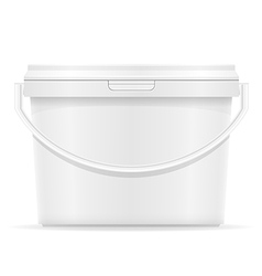 Plastic bucket for paint 06 vector