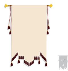 Heraldic banner vector