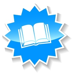 Book blue icon vector