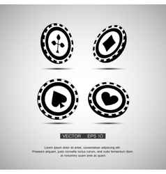 Black casino chip vector