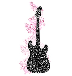 Abstract mysical background with guitar vector