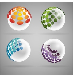 Sphere dots glass vector