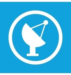 Satellite dish sign icon vector