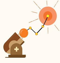 Business graph success cannonball vector