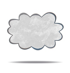 Climate gray cloud vector