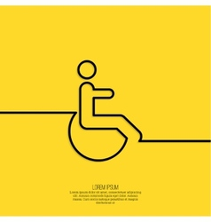 Symbol man on the wheelchair vector