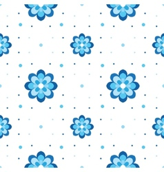 Floral pattern variation on gzhel theme simple vector