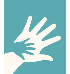 Hands helping design vector