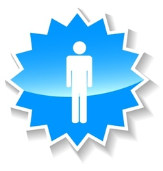 Man blue icon vector