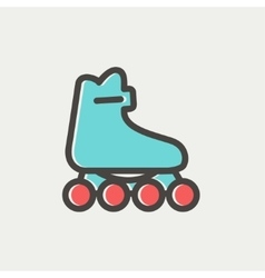 Roller skate thin line icon vector