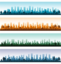 Cityscape silhouette city panoramas vector