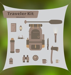 Traveler kit vector