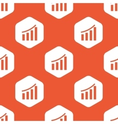 Orange hexagon bar graphic pattern vector