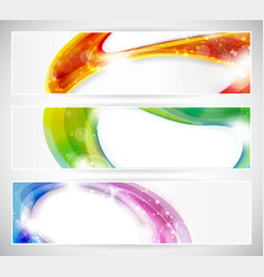 Abstract colorful vecter header set vector