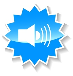 Sound blue icon vector