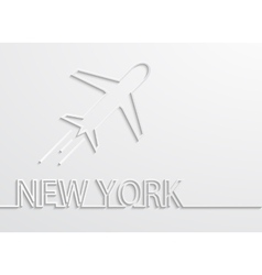 Modern new york capital background vector