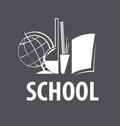 Logo accessories for studies in school vector
