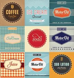 Label designs vector