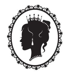 Princess silhouette in the frame vector