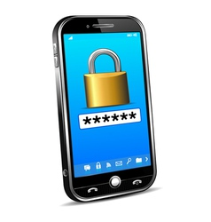 Cell phone locked unlock code vector