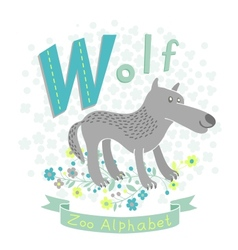 Letter w - wolf vector