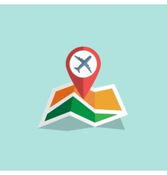 Navigation map icon vector
