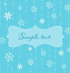 Retro snowflakes card in blue vector