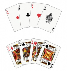 Poker aces and kings vector